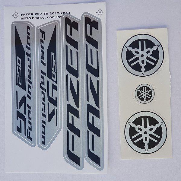 Faixa Fazer 250 YS 2012/13 Moto Prata Cod 153