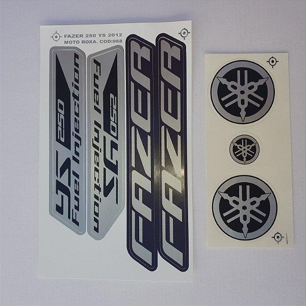 Faixa Fazer 250 YS 2012 Moto Roxa Cod 968