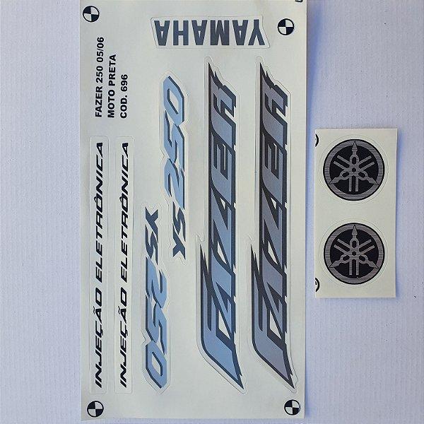 Faixa Yamaha Fazer 250 2005/06 Moto Preta Cod 696