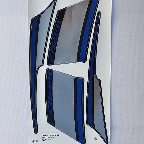 Faixa Yamaha Fazer YS 250 2014 Moto Preta Cod 214