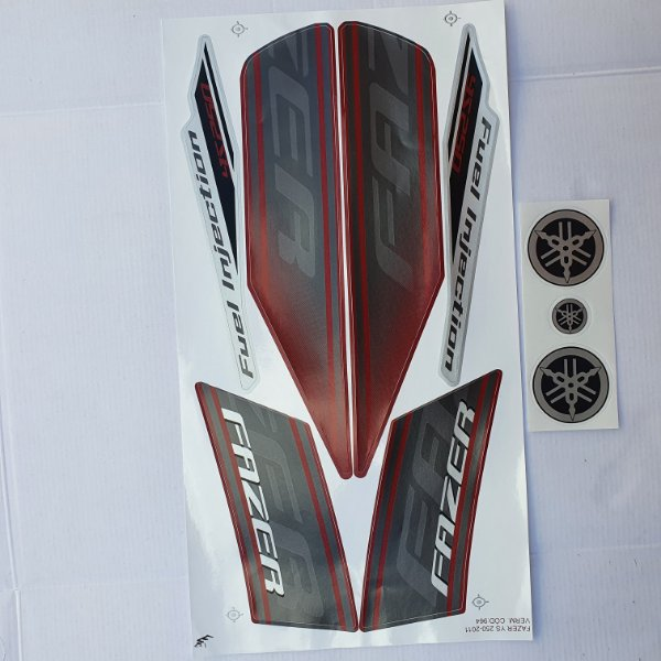 Faixa Yamaha Fazer 250 YS 2011 Moto Vermelha Cod 964