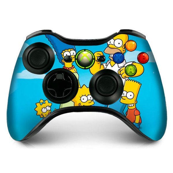 Adesivo de Controle XBOX 360 The Simpsons Mod 01