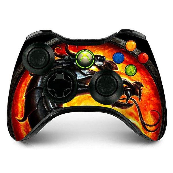 Adesivo de Controle XBOX 360 Mortal Kombat Mod 01