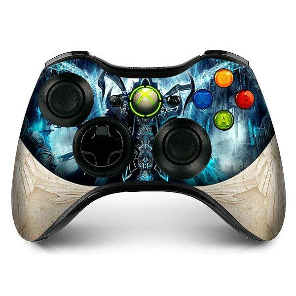 Adesivo de Controle XBOX 360 Diablo Reaper Souls White