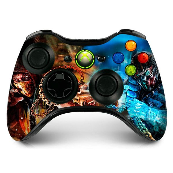 Adesivo de Controle XBOX 360 Mortal Kombat Mod 02