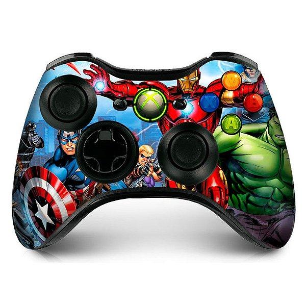 Adesivo de Controle XBOX 360 Avengers Mod 01