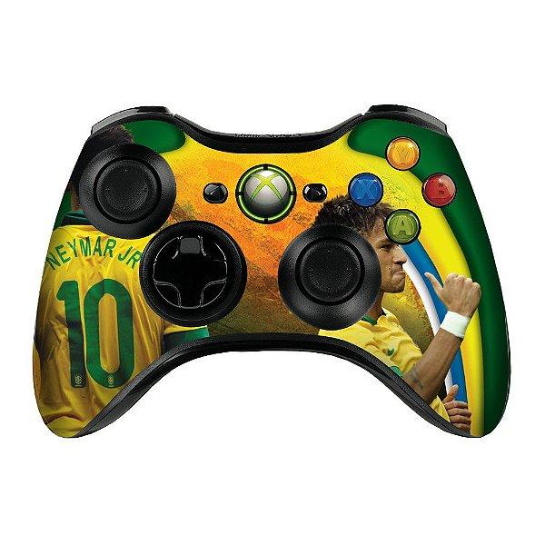 Adesivo de Controle XBOX 360 Neymar Brasil