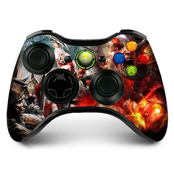 Adesivo de Controle XBOX 360 God Of War Mod 01