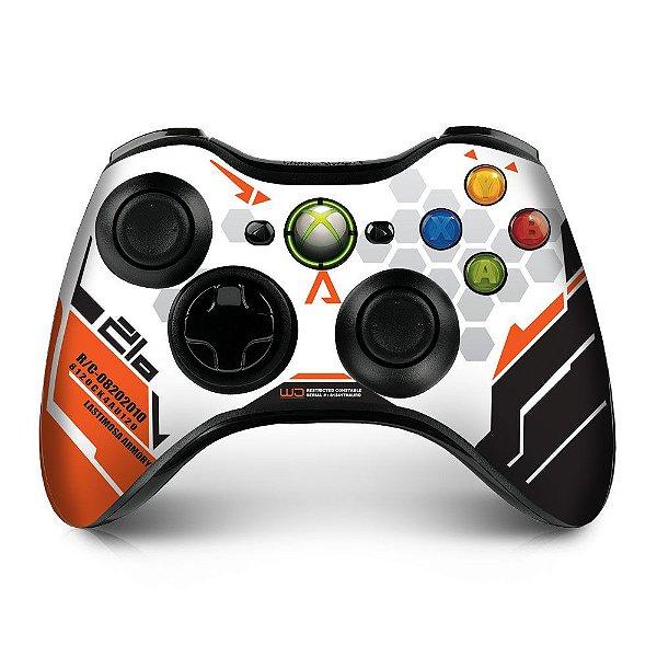 Adesivo de Controle XBOX 360 Titanfall Orange
