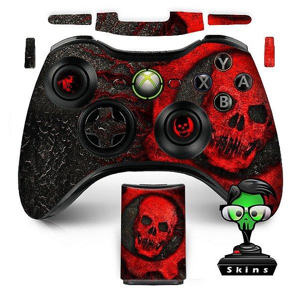 Adesivo de Controle XBOX 360 Gears of Wars Red