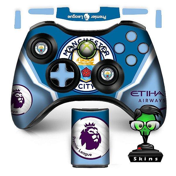 Adesivo de Controle XBOX 360 Manchester City Mod 01