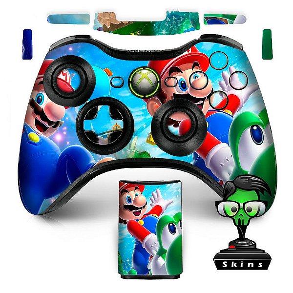 Adesivo de Controle XBOX 360 Mario Yoshi Mod 02