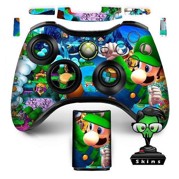 Adesivo de Controle XBOX 360 Luigi Mario