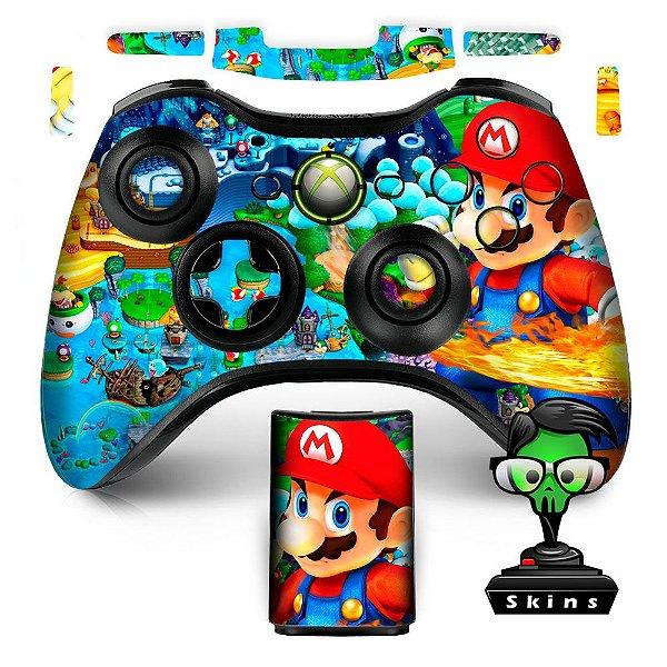 Adesivo de Controle XBOX 360 Mario Mod 01