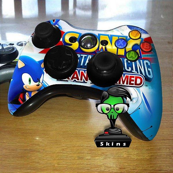 Adesivo de Controle XBOX 360 Sonic Mod 01