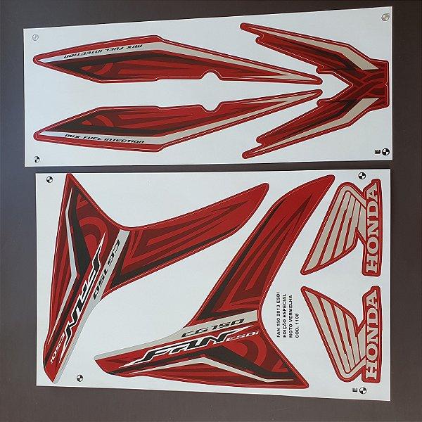 Faixa Honda CG 150 Fan ESDi 2013 Edição Especial Moto Vermelha Cod 1108