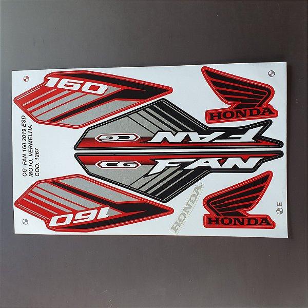 Faixa Honda CG 160 Fan ESD 2019 Moto Cinza Cod 1268