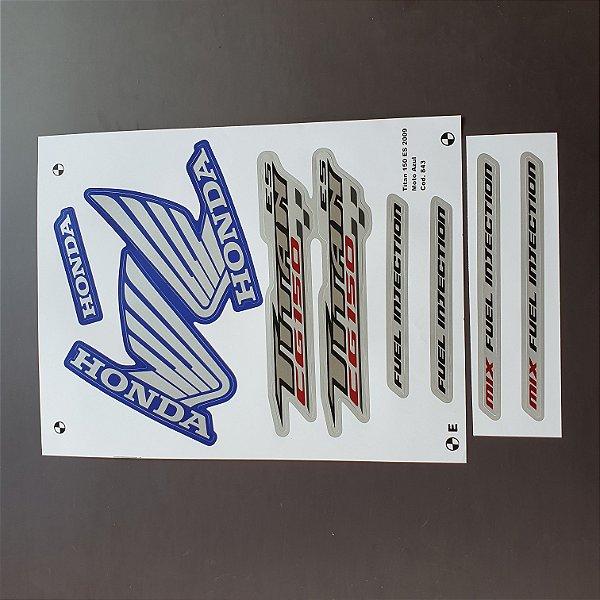 Faixa Honda CG Titan 150 2009 ES Moto Azul Cod 843