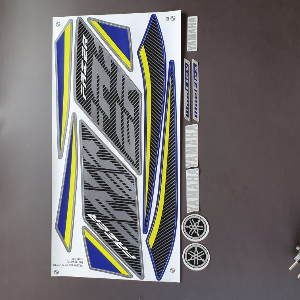 Faixa YAMAHA Fazer 150 2017 2018 Moto Azul Cod 302