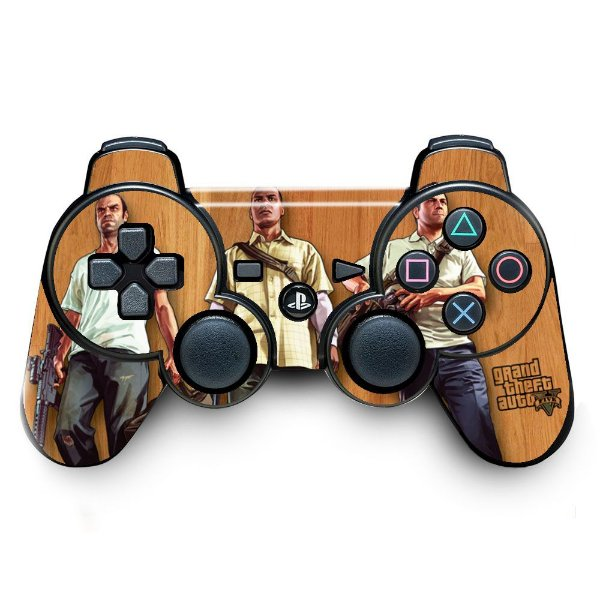 Adesivo de Controle PS3 GTA Mod 01