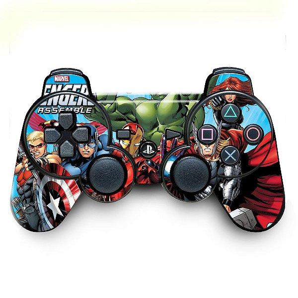 Adesivo de Controle PS3 Avengers Mod 01