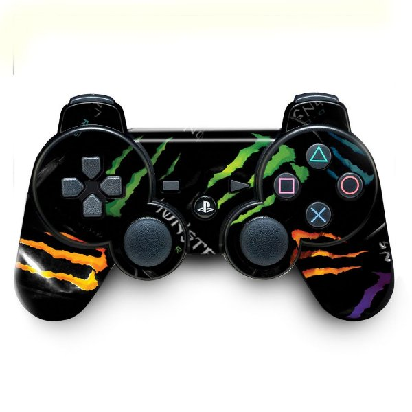 Adesivo de Controle PS3 Monster Colors
