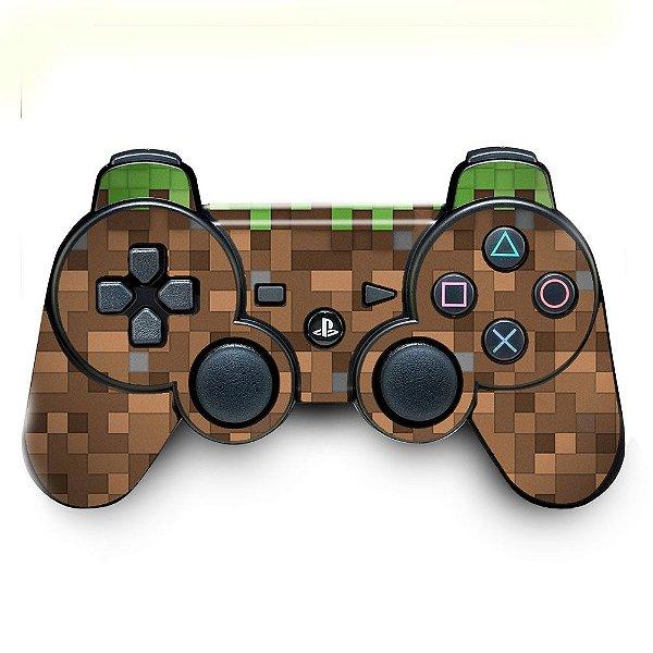 Adesivo de Controle PS3 Minecraft Blocos Mod 01