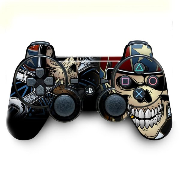 Adesivo de Controle PS3 Skull Garage