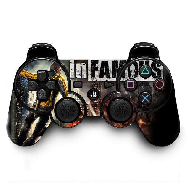 Adesivo de Controle PS3 Infamous Mod 01