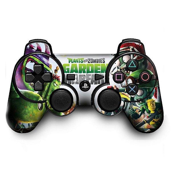Adesivo de Controle PS3 Plants VS Zombies Mod 01