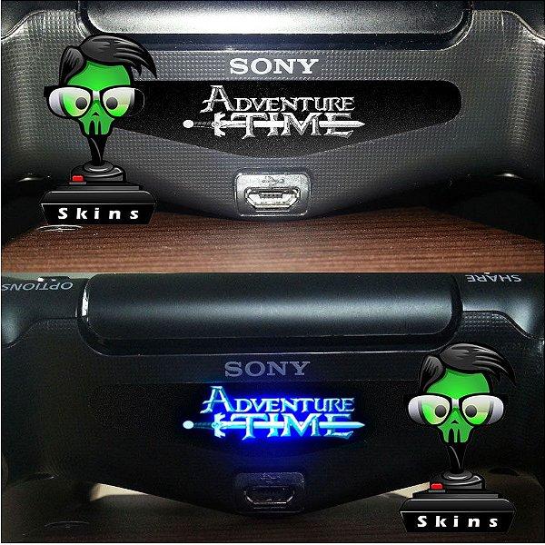 Adesivo Light Bar Controle PS4 Adventure Time Mod 01