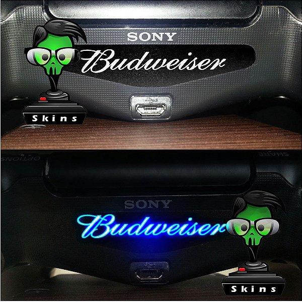 Adesivo Light Bar Controle PS4 Budweiser Mod 01