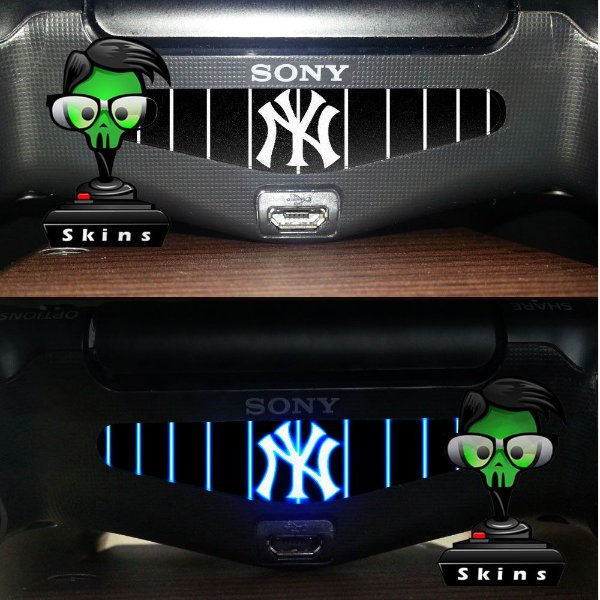Adesivo Light Bar Controle PS4 New York Mod 01
