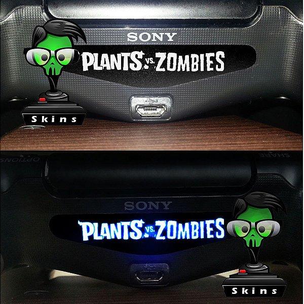Adesivo Light Bar Controle PS4 Plants VS Zombies Mod 01