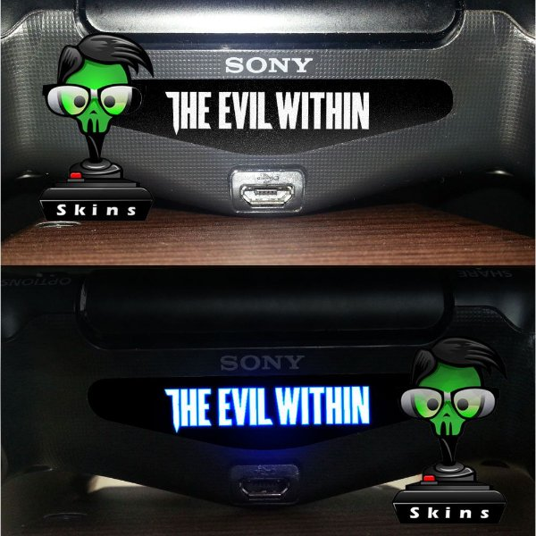 Adesivo Light Bar Controle PS4 The Evil Within Mod 01