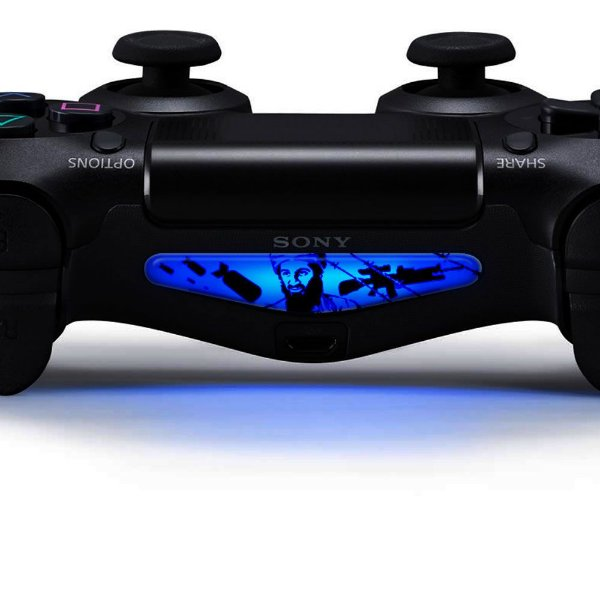 Adesivo Light Bar Controle PS4 Bin Laden Mod 01