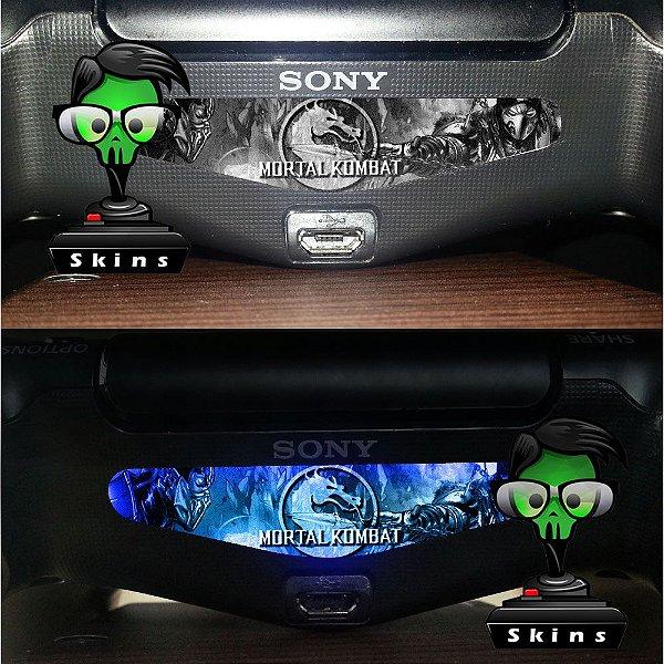 Adesivo Light Bar Controle PS4 Mortal Kombat Mod 03