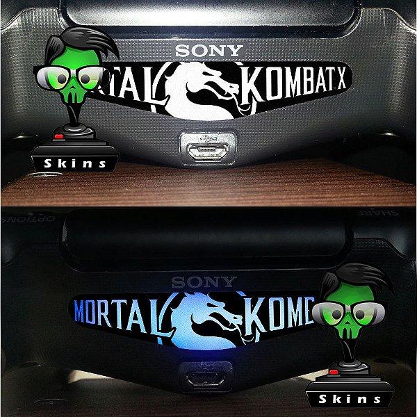 Adesivo Light Bar Controle PS4 Mortal Kombat Mod 04