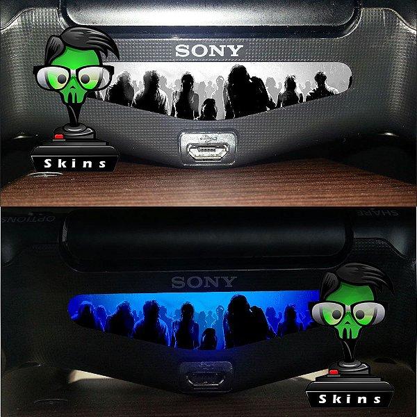 Adesivo Light Bar Controle PS4 Zombies Mod 05