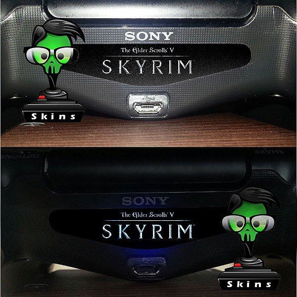 Adesivo Light Bar Controle PS4 Skyrim Mod 01