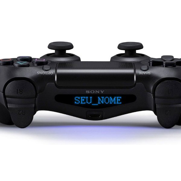 Adesivo Light Bar Controle PS4 Seu Nome Personalize Mod 05