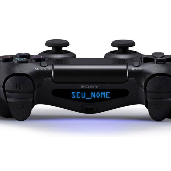 Adesivo Light Bar Controle PS4 Seu Nome Personalize Mod 09