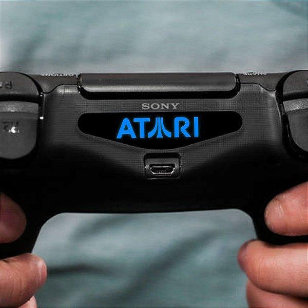 Adesivo Light Bar Controle PS4 Atari Mod 02