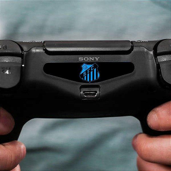 Adesivo Light Bar Controle PS4 Santos Mod 01