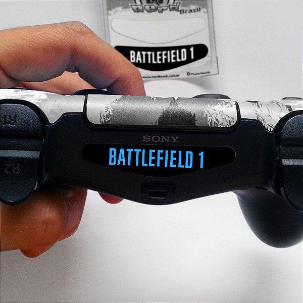 Adesivo Light Bar Controle PS4 Battlefield Mod 02