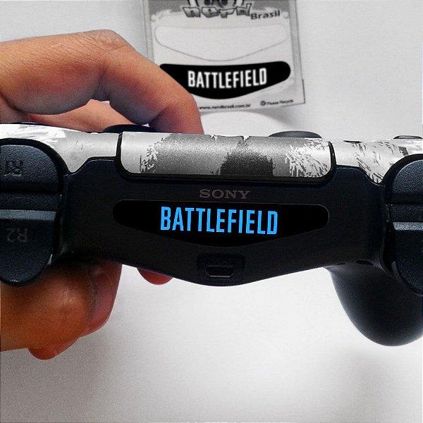 Adesivo Light Bar Controle PS4 Battlefield Mod 03