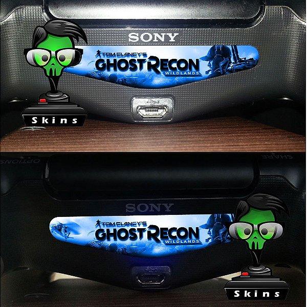 Adesivo Light Bar Controle PS4 Ghost Recon Mod 01