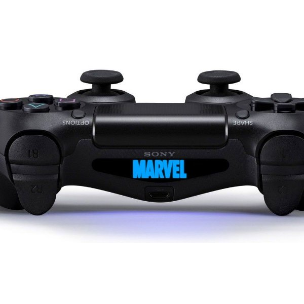 Adesivo Light Bar Controle PS4 Marvel Mod 02