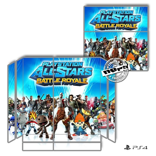 Adesivo para Console Ps4 Fat All Stars Battle Royale