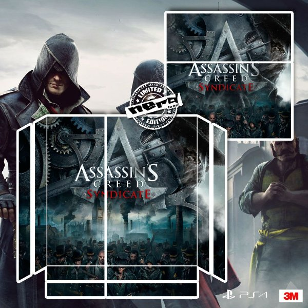 Adesivo para Console Ps4 Fat Assassins Creed Sindicate 2